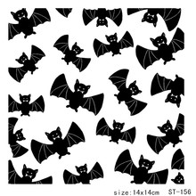 AZSG  Bat Family Theme clear stamp scrapbook rubber seal paper craft card making