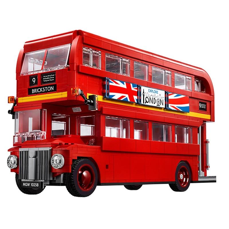 1716PCS Technic Series The London Bus Set Building Blocks Bricks Children Educational Toys Model Gifts Double