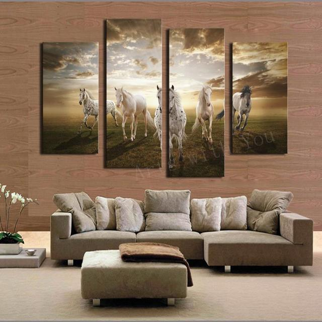 large paintings for living room 2017 real paintings unframed running large hd home 18602