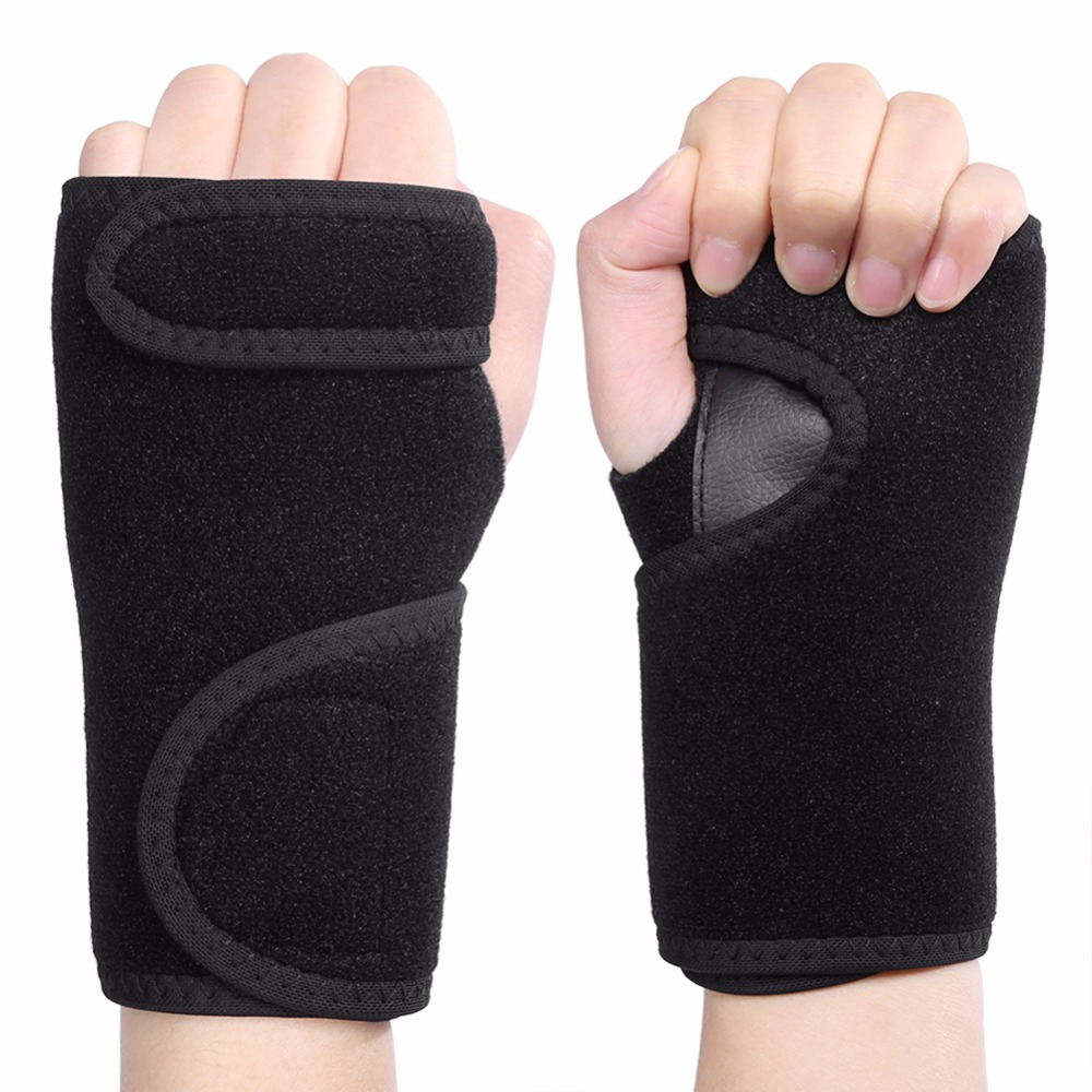Hands Brace Thumb Bandage Finger Splint Sports Wrist Guard Muscle Protector Carpal Tunnel Sprains Fractures Hands Support Wrap