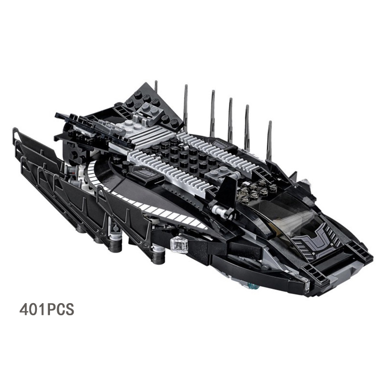 2018 New marvels Black Panther Super Heroes Royal Talon Fighter Attack compatible legoeinglys building block toys for boys gifts