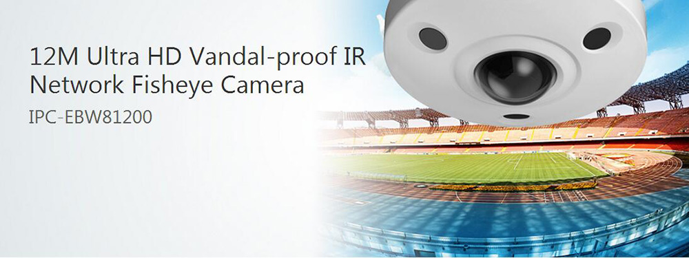 DAHUA Security IP Camera 12MP FULL HD Ultra HD Vandalproof IR Network Fisheye Camera IP67 with