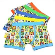 3 Piunids / Lots Of Underwear Boys And Girls Cartoon Soft Boxer 3-11