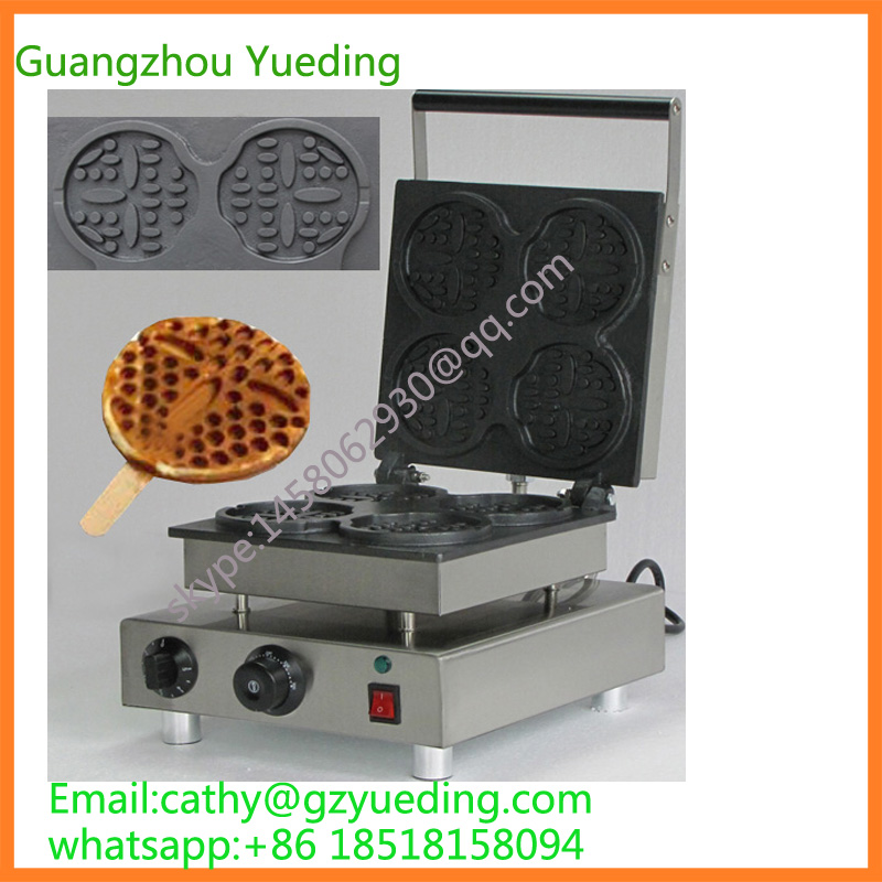 China smile face waffle maker face shape with 4 pieces china
