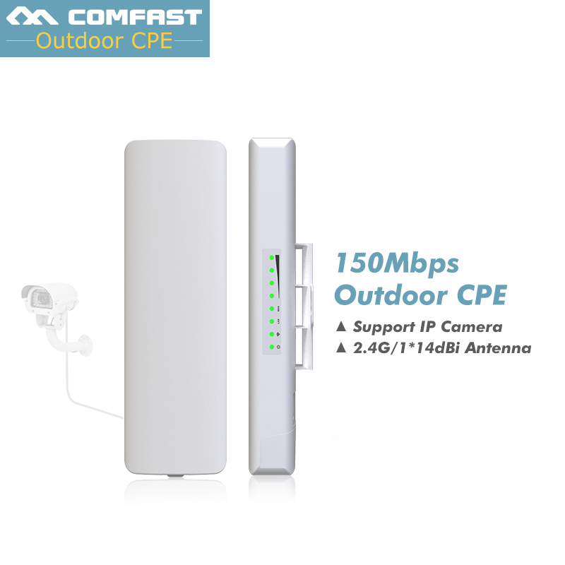 цена на 3-5km Comfast cf-e214nv2 Wireless bridge wifi AP Long Range CPE WIFI Signal Booster Amplifier Outdoor wifi repeater Cover range