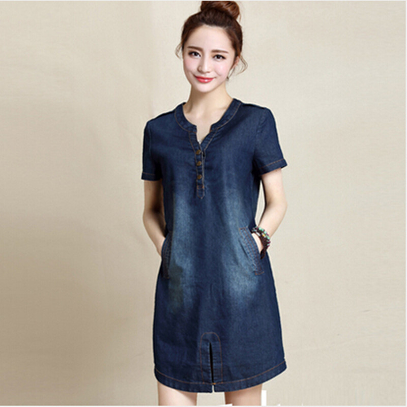 Women's Denim Dress Blouses Long Sleeve Swing Casual Dresses Blue $ 28 99 Prime. out of 5 stars NONOSIZE. Women's Long sleeve Loose Long Casual Safari Denim Dresses with Pocket and V-neck. from $ 31 19 Prime. out of 5 stars Flovey. Denim Maxi Dresses Women,Casual Condole Belt Deep V Neck Loose Dress Pockets.