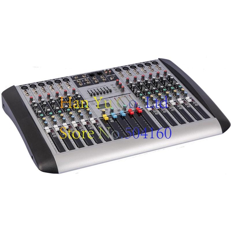 HX1202 New Professional Audio DJ Mixer 12 Channels Mixing Console Mezcladora De DJ