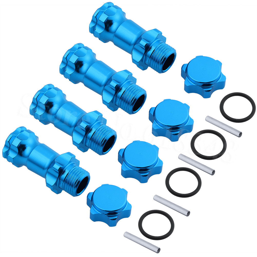 4pcs 89108 17mm Wheel Hex 30mm Longer Enhanced Mount Adapter Cover Hub For HSP 1/8 Scale Monster Truck Truggy RC Spare Parts