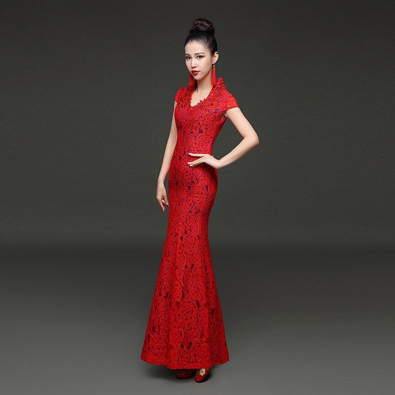 Платье халат красного