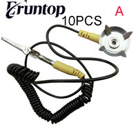 Freeshipping Anti Static ESD Wrist Strap Band With Crocodile Clip 10pcs Lot