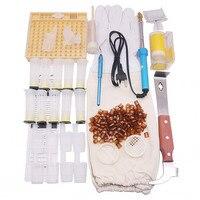 12 종류 150 pcs 양봉 도구 조합 패키지 스크레이퍼 로얄 킹 케이지 보호 커버 전선 embedding 장치