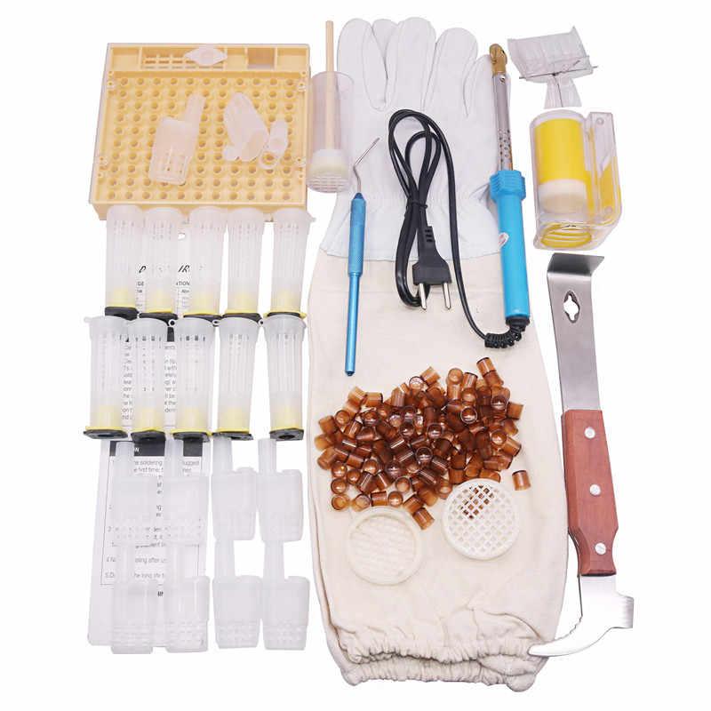 12 видов 150 шт. комплект инструментов для пчеловодства скребки королевская клетка Защитная крышка Электрический провод встраивание устройства