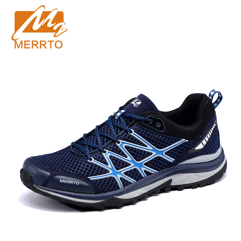 где купить 2018 Merrto Lovers Trail Running Shoes Lightweight Breathable Outdoor Sports Shoes Mesh For Lovers Free Shipping MT18593/MT18592 по лучшей цене