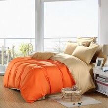 100% Healthy Cotton Plain Double 4/6PCS Bedding Sets Quilt Cover