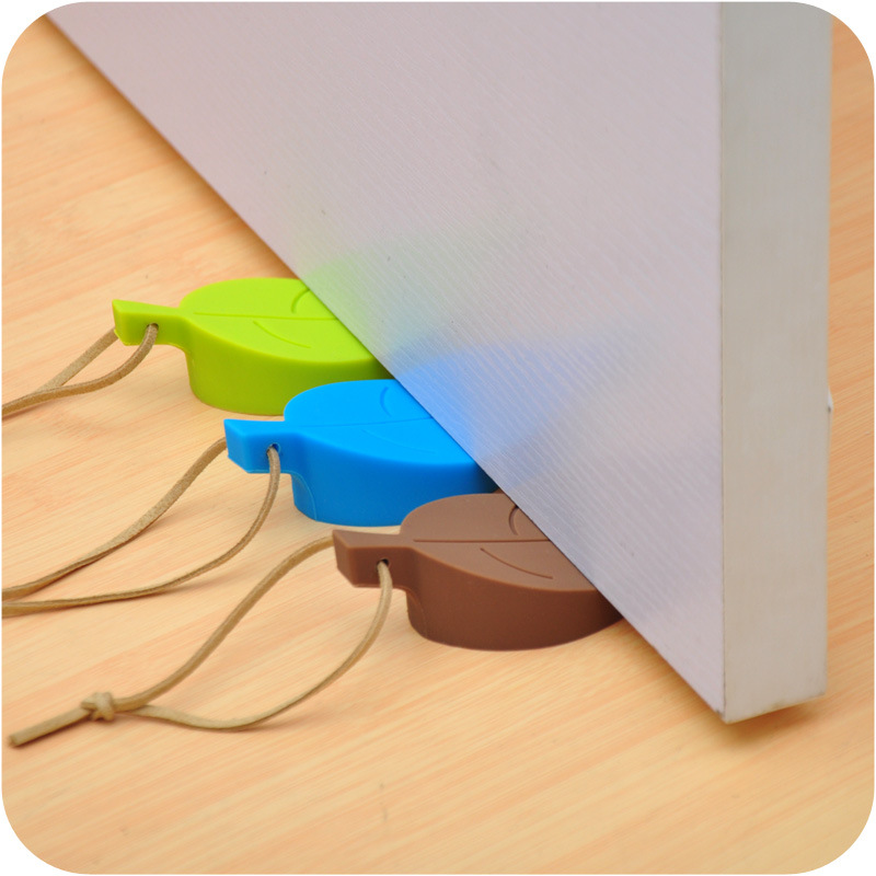 2016New Leaf Shape Door Stops The Leaf Peel Door Stopper Windbreak Doors Block Security Door Card For Children Pinch Hand Safety