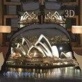 Ywxuege The Sydney opera house de futebol mundo Do mar O tigre Coaster Coaster 4 pcs set capa de edredão/fronha/saia da cama
