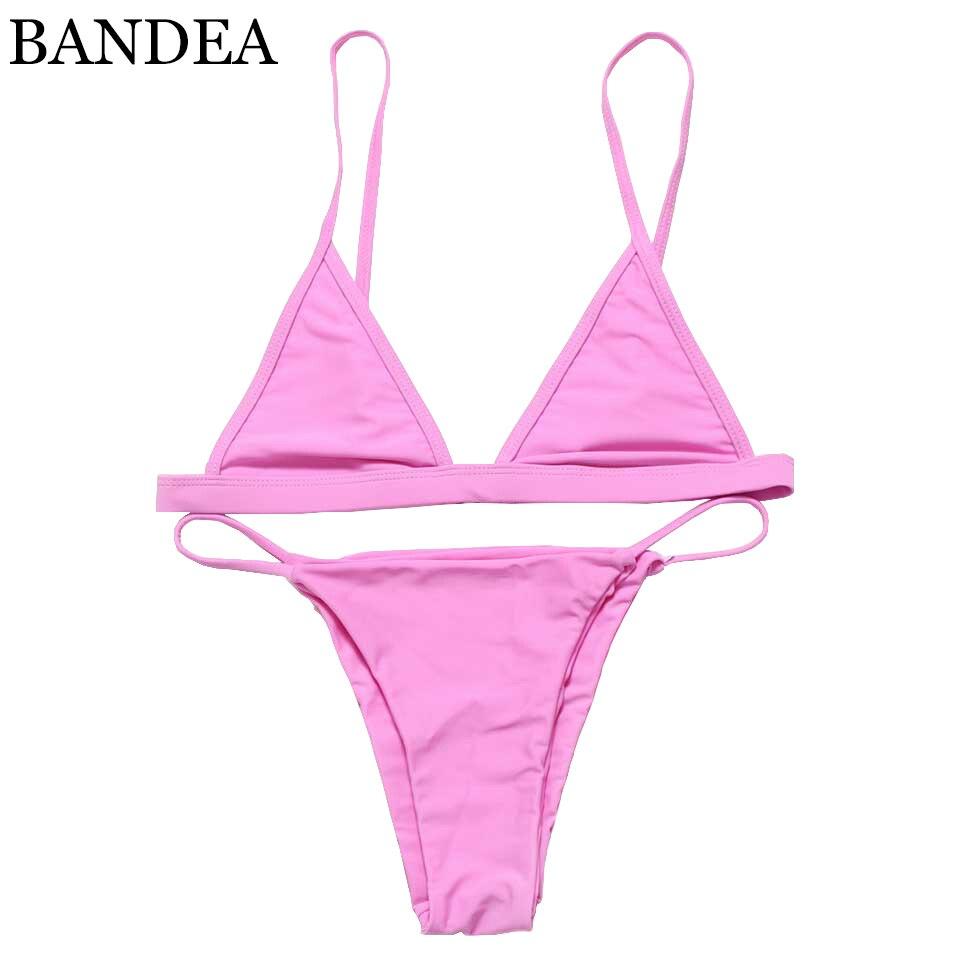 bandea hot sale brazilian bikini sexy women biquini halter swimwear summer mesh swimsuit maillot. Black Bedroom Furniture Sets. Home Design Ideas