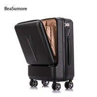 BeaSumore Creative Rolling Luggage Spinner Suitcase Wheels Men Trolley Women Travel bag On Wheel 20 inch Cabin Password Trunk