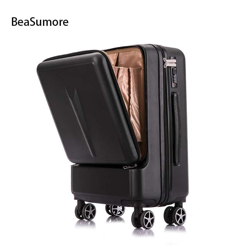 BeaSumore kreatywny Spinner Rolling przechowalnia podróż walizka koła mężczyźni wózek kobiety torba podróżna na kółkach 20 cal kabiny hasło bagażnika w Walizka na kółkach od Bagaże i torby na  Grupa 1
