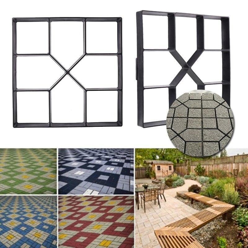 40*40*4cm גן כלים עובש עבור בטון DIY אבן פלסטיק עובש מסלולי גן ריצוף עובש pathmate שובל בריק עובש כלי