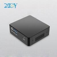 XCY Мини ПК Intel Core i5 4200U 4200Y двухъядерный маленький настольный ПК Поддержка оконные рамы Linux HDMI VGA беспроводной Wi Fi ТВ коробка NUC