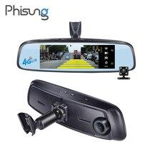 """Phisung E09 7.84 """"4G soporte Especial Cámara Espejo Android GPS DVR Coche con dos cámaras WIFI ADAS dash cam Grabadora de Vídeo Remoto"""