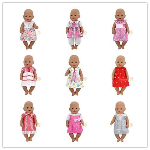 15Sstyle Choose Beautiful Dress Clothes Wear fit 43cm Baby Born zapf, Children best Birthday Gift zapf baby born sweater hat jeans dress wool cap fit 18 inch american girl doll winter clothes sets children best birthday gift