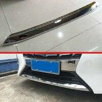 Para 2016 2018 Toyota Alphard Edição luxuosidade ABS Frente Chrome Bumper Skid Plate Guarda Protetor guarnição tira Estilo de cromo     -