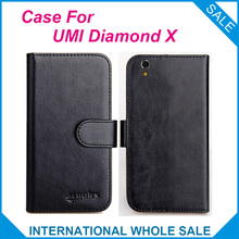 Hot! 2017 Diamond X UMI Case, 6 Colors High Quality Original Leather Exclusive 100% suitable phone bag Cover+Tracking
