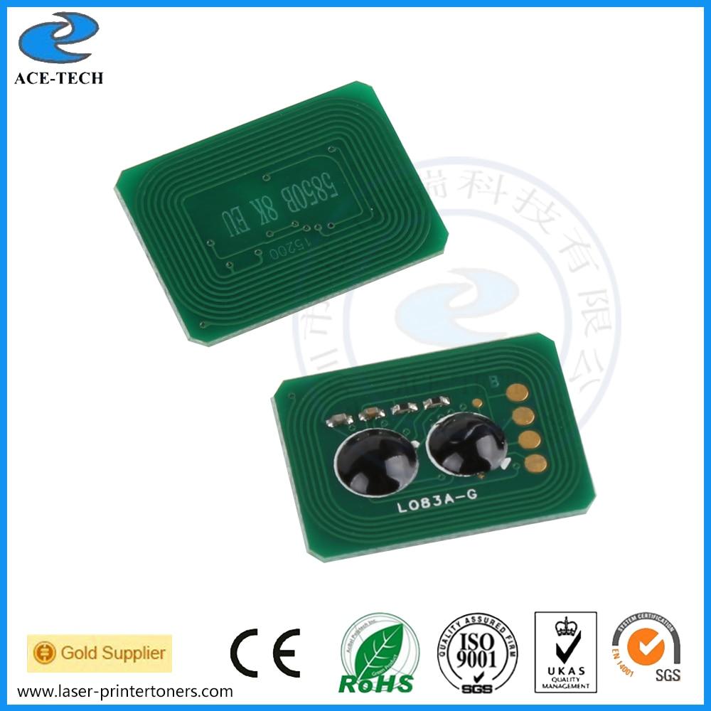 Kompatibel farbtonerzurückstellenspan für OKI C5850 C5950 MC560 laserdrucker nachfüllpatrone 43865724/43865723/43865722/43865721