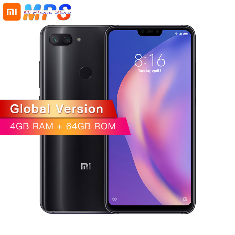 Global Version Xiaomi Mi 8 Lite 4GB 64GB Mobile Phone Snapdragon 660 Octa Core 24MP Front