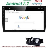 2G RAM 4 Core 2 Din Android 7 1 Car DVD Player 10 1 Inch 1024