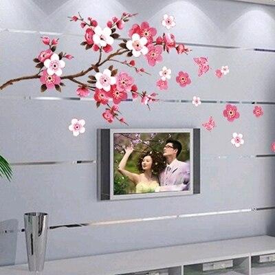 Einfach Plum Blossom Wohnzimmer Schmuck Innen Die Schlafzimmer Der Kinder Zimmer Sofa Tv Einstellung Können Entfernen Elegantes Und Robustes Paket