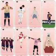 Novo Hard Case Plástico Famoso LionelMessi Cristiano Ronaldo Estrela do Futebol original phone case capa para iphone 5 5s 6 6 s além de