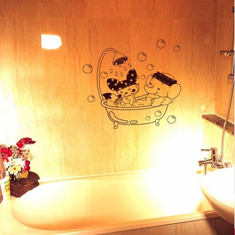 Aliexpress.com : Buy New Removable Door Vinyl Decal Mural Bathroom ...