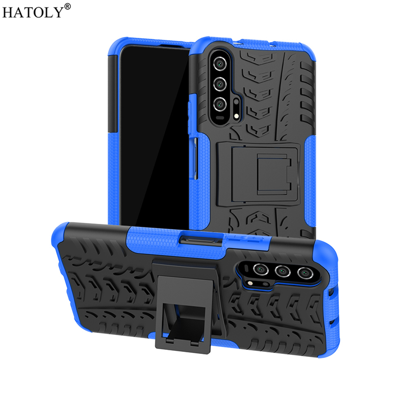 For Cover Huawei Honor 20 Case Anti-knock Heavy Duty Hard Armor Cover For Honor20 Silicone Phone Bumper Case For Huawei Honor 20 image