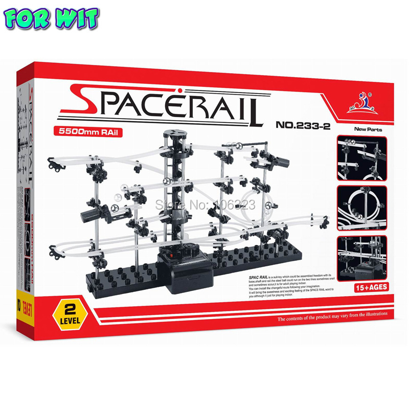 New Parts Space Raill, Funny Model Building Kit, Roller Coaster Toys, SpaceRail Level 2, DIY Spacewarp Erector Set, 233-2,5500mm high quality new space rail funny model building kit rollercoaster toys spacerail level 9 diy spacewarp erector set 70000mm
