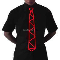 High Quality 10 Colors 50pcs Glowing EL Wire Necktie Flashing Light Up LED Neon Glow Neck