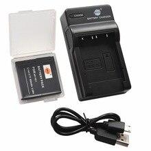 DSTE NP-FE1 Battery Case Protector + UDC02 USB Port Charger for Sony Cyber-shot DSC-T7 DSC-T7/B DSC-T7/S Camera