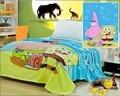 Бесплатная доставка губка боб 100% ватки одеяла мультфильм одеяло на кровати из микрофибры одеяла детское одеяло дети