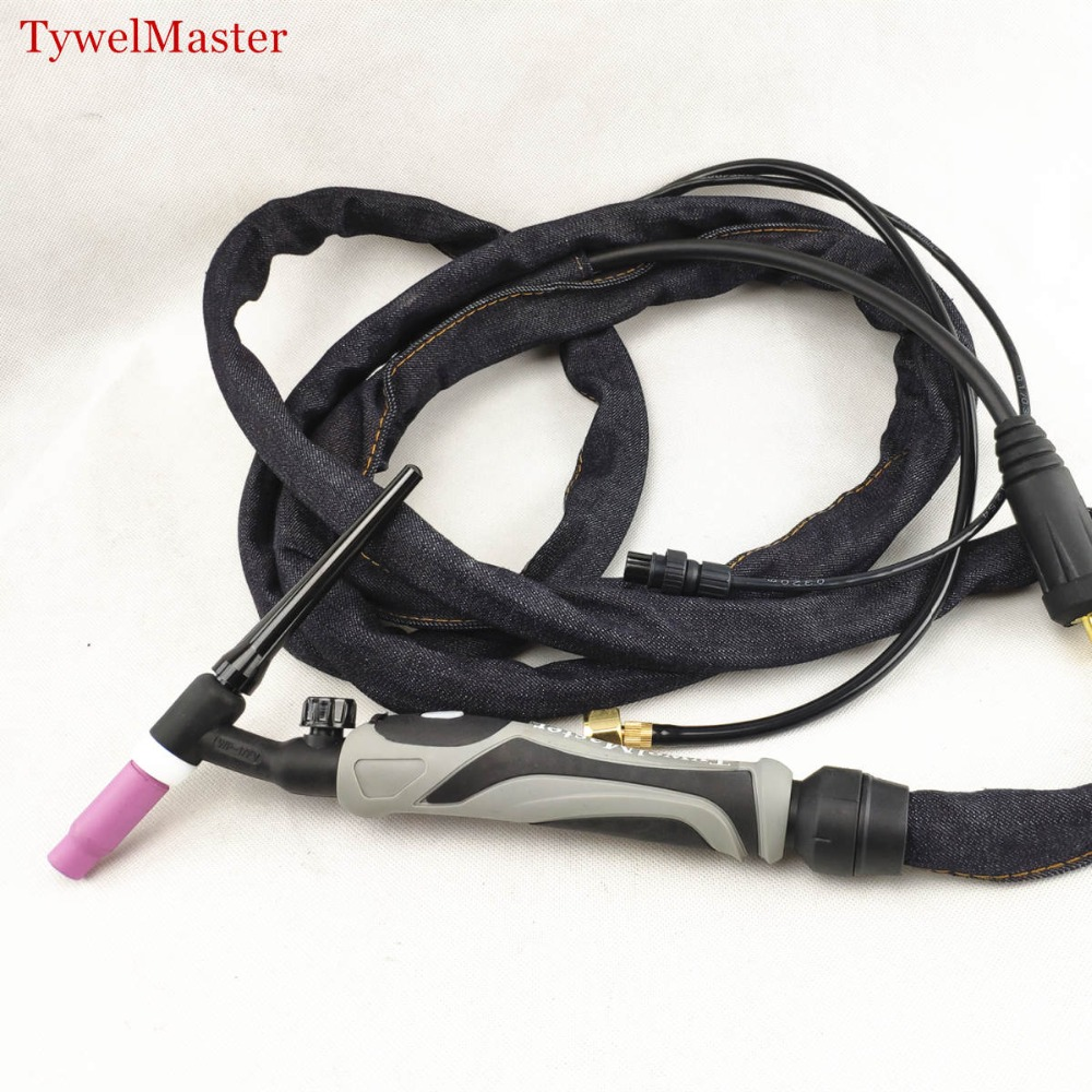 WP17-FV TIG Torch GTAW Tungsten Arc WP17 Argon 3.7m 12.1ft Air Cooled WP-17 Flexible Head Gas Valve TIG Welding Torch