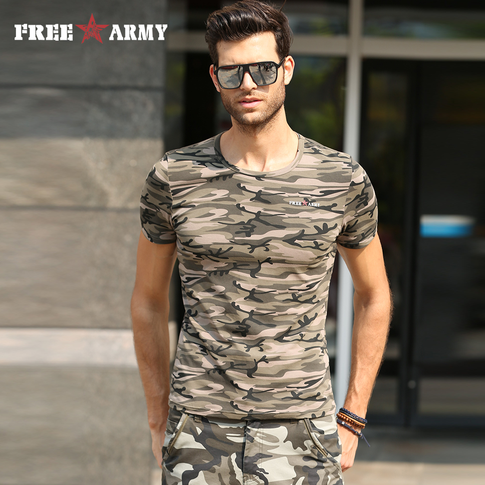 Buy Free Army 2017 Camouflage T Shirts