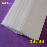 AAA+ Balsa Wood Sheet ply 1000mmX100mmX3mm 20 pcs/lot super quality for airplane/boat DIY free shipping