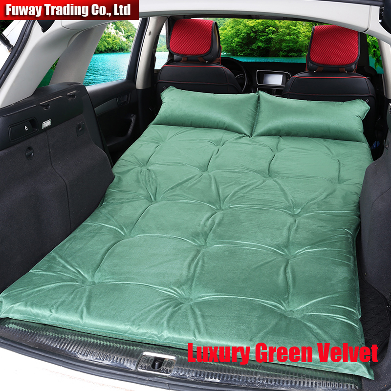Automatic Inflatable Universal SUV Car Air Inflation Mattress Bed Auto Back Seat Cover Drive Travel Car Inflatable Bed
