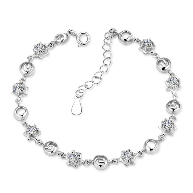 Silverware Manufacturers Supply 925 Sterling Silver Bracelet Figures 520 women's Bracelet Silver Jewelry Wholesale