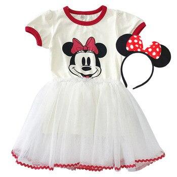 983dcdb77bec 2019 verano niñas vestidos de fiesta para bebé niña Minnie cumpleaños  vestido de la princesa, 2, 3, 4, 5, 6 años los niños bola vestido de la ropa  de los ...