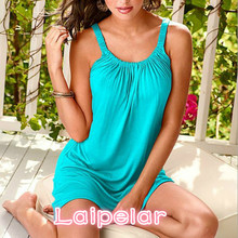 2018 New Style Summer Loose Sling Dress Comfortable Size Solid Color Sexy For Female S-XL Laipelar