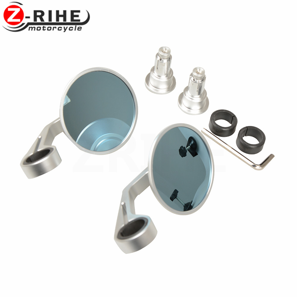 hight resolution of for 7 8 22mm universal motorcycle handle bar rearview mirror handle bar end