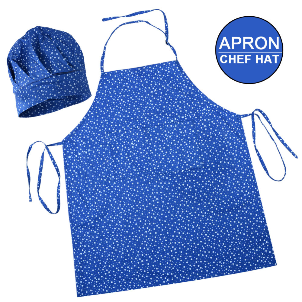 Child Apron Hat Set Kids Kindergarten Kitchen Baking Painting Cooking Drink Food Use Accessary Household Cleaning Back To Search Resultshome & Garden