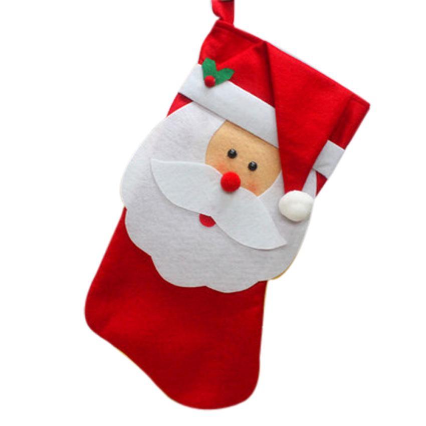 feliz navidad calcetines de regalo de navidad de santa bolsa de regalo de dulces calcetines